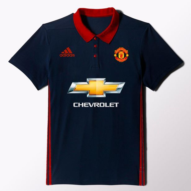 sale retailer e8952 3376a PICTURES: Is this Man Utd's away & third kits for next ...