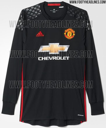 hot sale online 9e8c1 0cf97 Pictures: Manchester United's 2016/17 goalkeeper kit leaked ...
