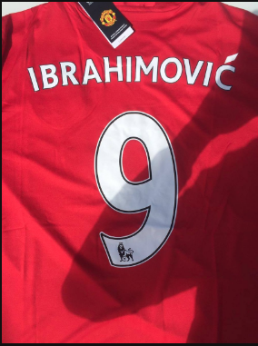 quality design a56ec 2d998 Picture: Zlatan Ibrahimovic's Man Utd shirt number already ...