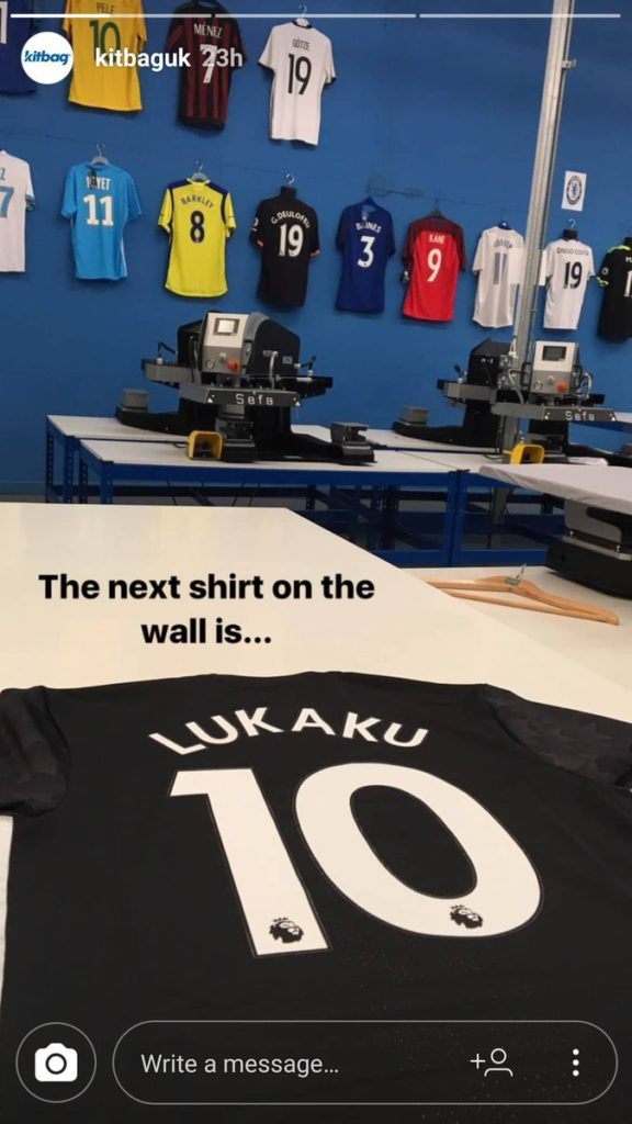 52a5cdeffe Picture  Romelu Lukaku s shirt number leaked by Kitbag UK - Old ...