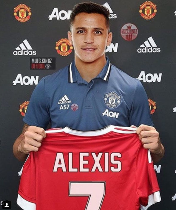 brand new c8875 eafe9 Picture: Alexis Sanchez photoshopped in Manchester United ...