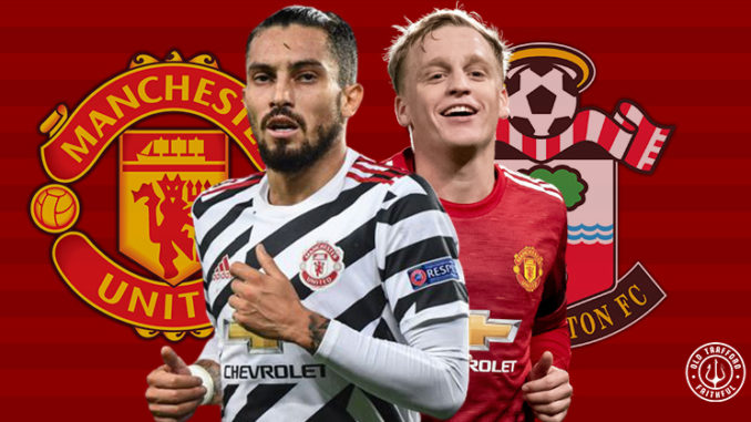 predicted man utd xi vs southampton premier league away 2020/21